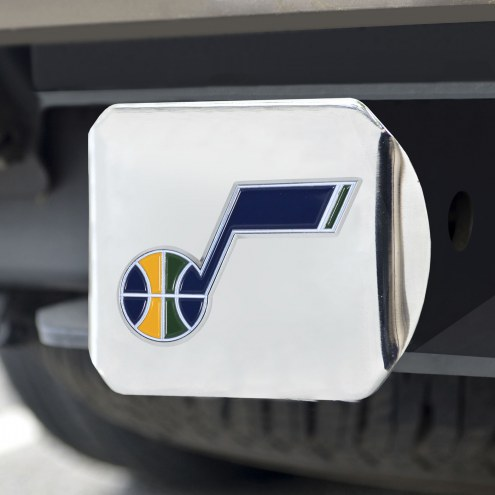 Utah Jazz Chrome Color Hitch Cover