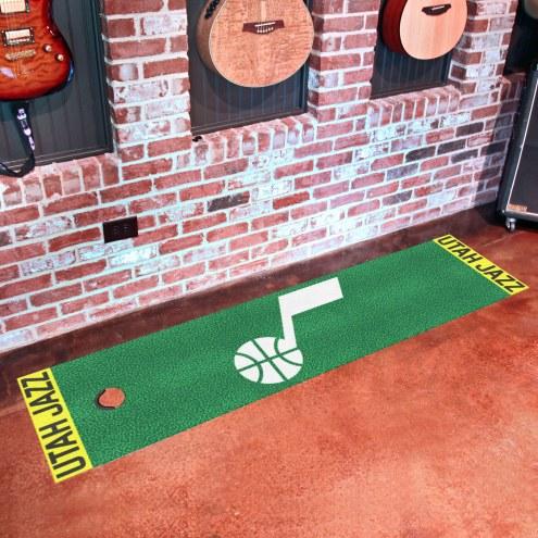 Utah Jazz Golf Putting Green Mat