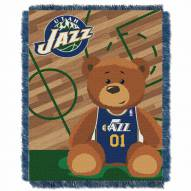 Utah Jazz Half Court Baby Blanket