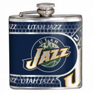 Utah Jazz Hi-Def Stainless Steel Flask