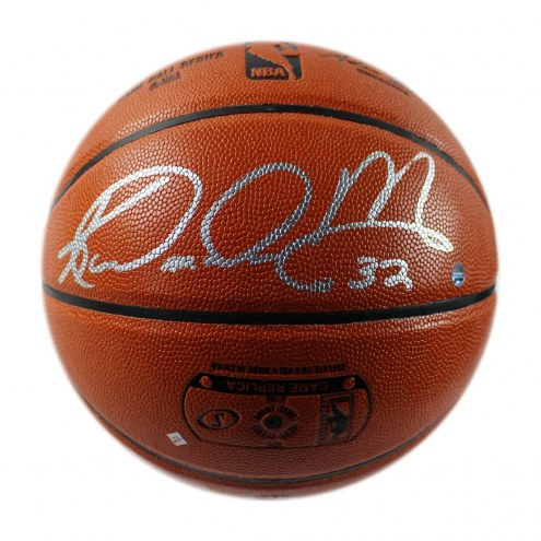 Utah Jazz Karl Malone Signed Spalding NBA Indoor/Outdoor Basketball