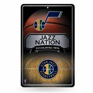 Utah Jazz Large Embossed Metal Wall Sign