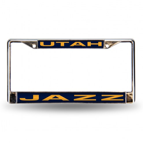 Utah Jazz Laser Chrome License Plate Frame