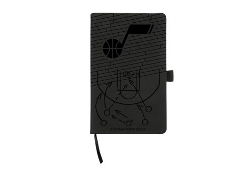 Utah Jazz Laser Engraved Black Notepad
