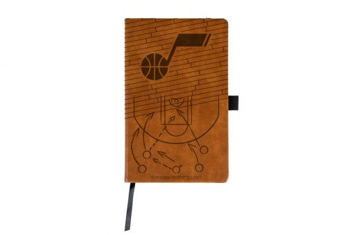 Utah Jazz Laser Engraved Brown Notepad