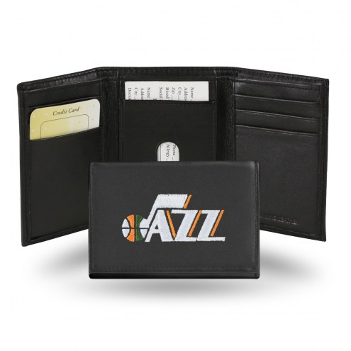 Utah Jazz NBA Embroidered Leather Tri-Fold Wallet