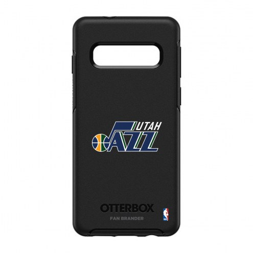 Utah Jazz OtterBox Samsung Galaxy S10 Symmetry Black Case