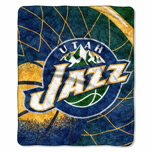 Utah Jazz Reflect Sherpa Blanket