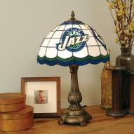 Utah Jazz Stained Glass Tiffany Table Lamp