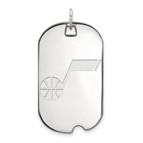 Utah Jazz Sterling Silver Large Dog Tag