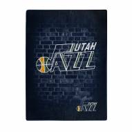 Utah Jazz Street Raschel Throw Blanket