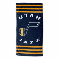 Utah Jazz Stripes Beach Towel