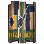 Utah Jazz Wood Fence Sign