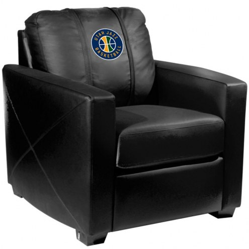 Utah Jazz XZipit Silver Club Chair with Secondary Logo
