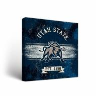 Utah State Aggies Banner Canvas Wall Art
