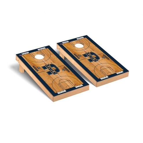 Utah State Aggies Basketball Court Cornhole Game Set