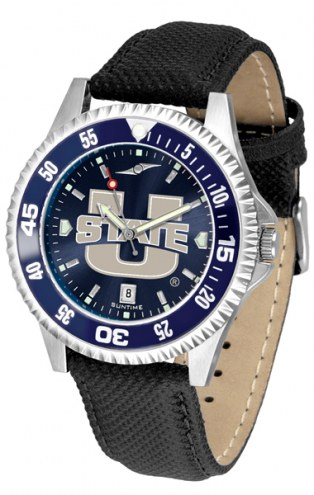 Utah State Aggies Competitor AnoChrome Men's Watch - Color Bezel