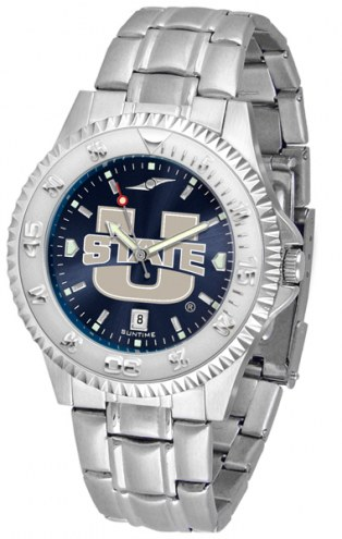 Utah State Aggies Competitor Steel AnoChrome Men's Watch