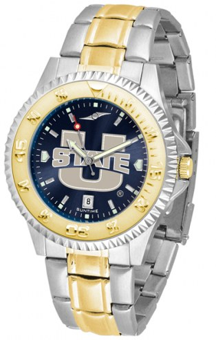 Utah State Aggies Competitor Two-Tone AnoChrome Men's Watch