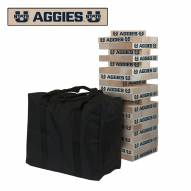 Utah State Aggies Giant Wooden Tumble Tower Game