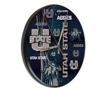 Utah State Aggies Digitally Printed Wood Clock