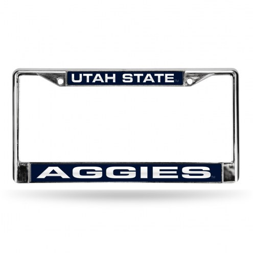 Utah State Aggies Laser Chrome License Plate Frame