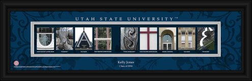 Utah State Aggies Personalized Campus Letter Art