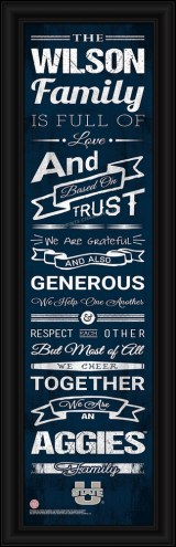 Utah State Aggies Personalized Family Cheer Framed Art
