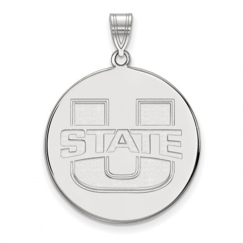Utah State Aggies Sterling Silver Extra Large Disc Pendant