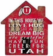 "Utah Utes 12"" House Sign"