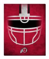 """Utah Utes 16"""" x 20"""" Ghost Helmet Canvas Print"""