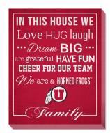 "Utah Utes 16"" x 20"" In This House Canvas Print"