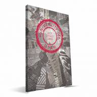 "Utah Utes 16"" x 24"" Scrapbook Canvas Print"