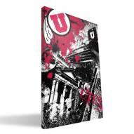"""Utah Utes 16"""" x 24"""" Spirit Canvas Print"""