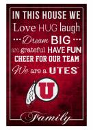 """Utah Utes 17"""" x 26"""" In This House Sign"""