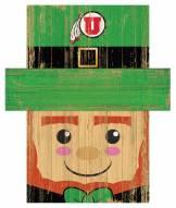 "Utah Utes 19"" x 16"" Leprechaun Head"