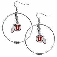 """Utah Utes 2"""" Hoop Earrings"""