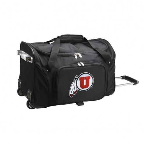 """Utah Utes 22"""" Rolling Duffle Bag"""