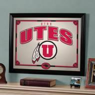 """Utah Utes 23"""" x 18"""" Mirror"""