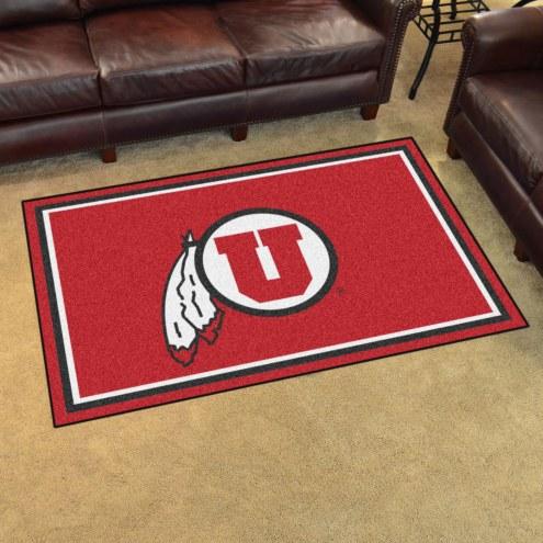 Utah Utes 4' x 6' Area Rug