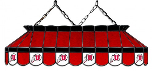 """Utah Utes 40"""" Stained Glass Pool Table Light"""