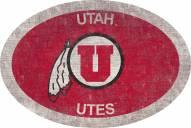 "Utah Utes 46"" Team Color Oval Sign"