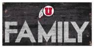 "Utah Utes 6"" x 12"" Family Sign"