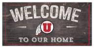 "Utah Utes 6"" x 12"" Welcome Sign"