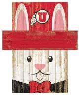 "Utah Utes 6"" x 5"" Easter Bunny Head"