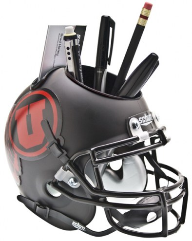 Utah Utes Alternate Schutt Football Helmet Desk Caddy