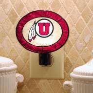Utah Utes Art Glass Night Light