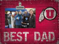 Utah Utes Best Dad Clip Frame