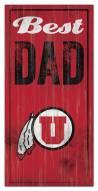 Utah Utes Best Dad Sign