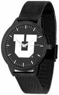 Utah Utes Black Dial Mesh Statement Watch